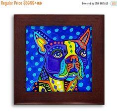 50% Off Today Boston Terrier Lover Gift dog by HeatherGallerArt