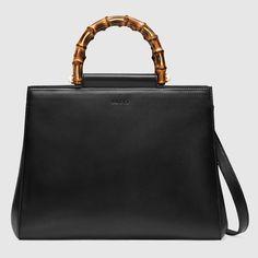700e2382de Gucci Nymphaea leather top handle bag Gucci Handbags