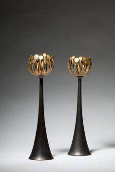 oh my!  Bronze Candlestick by Hervé van der Straeten
