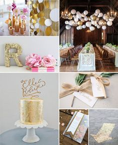 Every year in November, when you start slowly thinking about Christmas and the end of the year, I mu Glam And Glitter, Glitter Party, Gold Party, Wedding Table, Wedding Blog, Diy Wedding, Wedding Cakes, Golden Birthday Parties, Holidays And Events