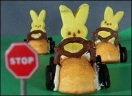 You have got to make these!! The cars are Twinkies, steering wheel is choc. covered pretzels..So cute and easy, Vicki