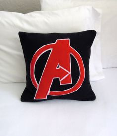 Avengers Fleece Throw Pillow, Marvel Avengers by PatternsOfWhimsy on Etsy #pillowcover
