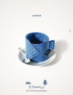 ANZIEHENDE MENTALITÄT: Verrückte Krawatten in der neuen Kampagne von Foolbite für Marinella Ties. Gefunden auf http://kress.de/printschau/spot/7366-verrueckte-krawatten.html