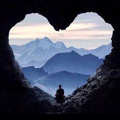 Heart Shaped Cave Entrance