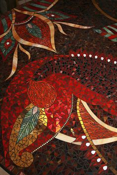 Mosaic table - detail