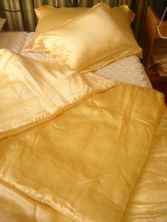 Sunny selyem paplan 1500 gramm, arany - Ágynemű - Ágynemű, hernyóselyem - Termékek - selyemwebaruhaz.hu