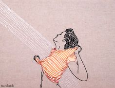 TsuruBride — Refracted hand embroidery and acrylic painted...