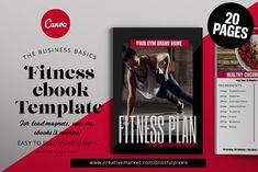 Fitness ebook Template by Blissful Pixels on @creativemarket Magazine Display, Magazine Collage, Magazine Organization, Magazine Crafts, Set Cover, Working On It, Web Browser, Magazine Design, Brand Names