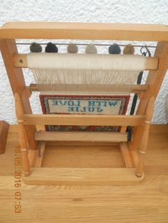 Rare Vintage Miniature Weaving Loom With Carpet With Love From Julie Message | eBay