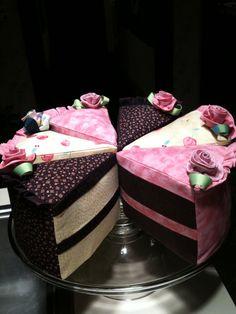 Cake slice pincushions (don't eat!)