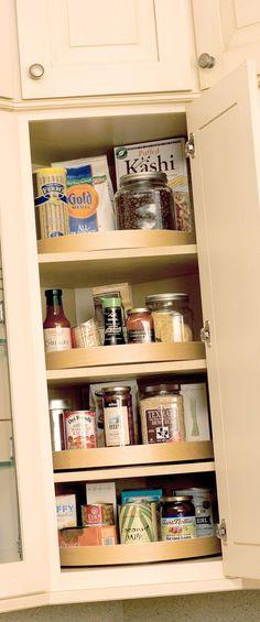 Corner Cabinet Storage   Turntable & Pivoting Shelves   Dura Supreme ...