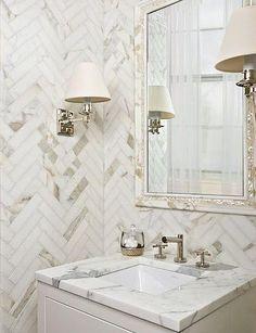 Zig Zag Room Inspiration beautiful bathroom, Sarah Richardson Design, Inc.