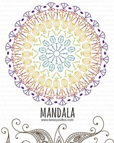 mandala free crochet pattern with video tutorial, español e inglés. #MandalaCrochetPatterns