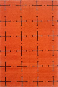 Madeline Weinrib - Orange Sugar, Tibetan rug ... perfect for a game room to honor my Flyers!
