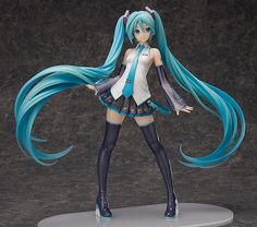 **A 1/4th scale figure of Hatsune Miku, standing an incredible 42cm in height!**  The Hatsune Miku V3 key visual illustration by iXima has been sculpted into a massive 1/4th scale figure, which stands an impressive 42cm in height. The twintails winding around her body have been sculpted with the utmost detail, with incredible care also given to the intricacies of her outfit - bringing out a lev...