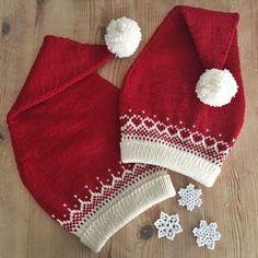 Nissejentelue og Nisseguttlue pattern by Frøydis Fadum, Diy Abschnitt, Knitting Patterns Free, Free Knitting, Baby Knitting, Crochet Baby, Knit Crochet, Knitting For Kids, Knitting Projects, Crochet Projects, Kwanzaa