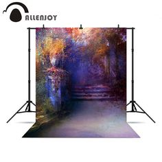 Allenjoy photographic background Mysterious Garden beautiful oil painting artistic professional photography background