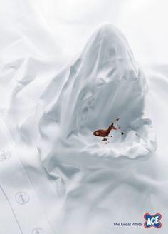 Original y sencilla pieza de esta marca de detergente ACE The Great White #advertising