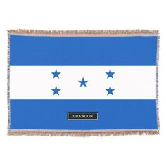 Shop Flag of Honduras Throw Blanket created by HappyPlanetShop. All Country Flags, Honduras Flag, Political Events, Photo Memories, National Flag, Are You The One, Family Photos, Art For Kids, Blanket