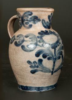 Very Rare H. SMITH & CO. (Alexandria, DC) Stoneware Pitcher -- Lot 259 -- November 2, 2013 Stoneware Auction -- Crocker Farm, Inc.