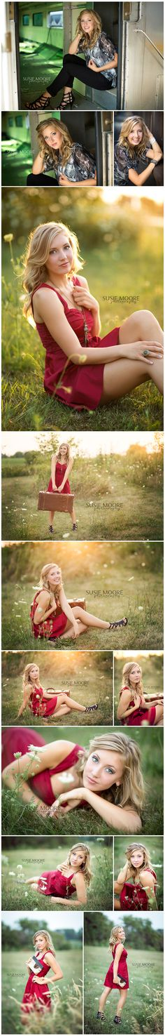Madison |Lincoln-Way High School | Chicago Senior Photographer | Susie Moore Photography - loving that red!