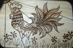 rooster patterns for crafts | to think that wood burning was something that scouts did for crafts ...