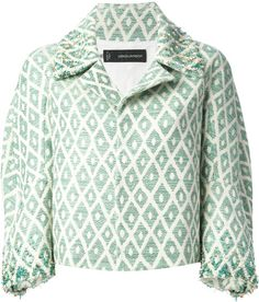 Dsquared2 Embellished Cropped Jacket in Green - Lyst