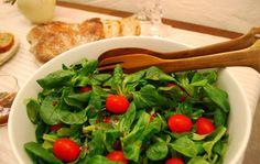 Salatdressing mal anders - Feldsalat mit Himbeerdressing