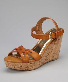 Chestnut Martha Wedge Sandal