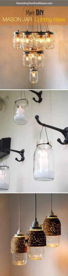 DIY Mason Jar Lighting Ideas and Tutorials! #canningjars #masonjars