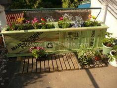 Bac à fleurs / Pallet planter | 1001 Pallets
