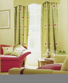 Drapes For Living Room Yellow Living Rooms.Portfolio Living Room Lnspiration How To Decorate A . 13 Green Living Room Ideas Green Decor Inspiration For . Home Design Ideas Lime Green Curtains, Green Kitchen Curtains, Accent Walls In Living Room, Living Room Green, Küchen Design, House Design, Rosa Sofa, Pink Sofa, Beautiful Living Rooms