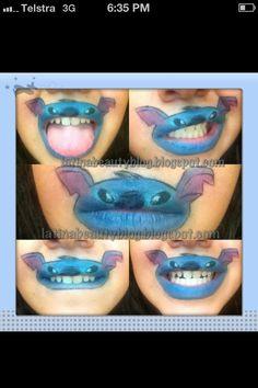 Stitch lips... Too funny!! #disney #funny
