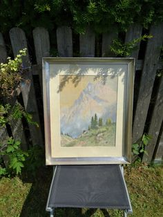 Gemälde Gebirge Franz Moro Künstler Aquarell Lienz Tirol Osttirol Panorama Berge Ebay, Frame, Home Decor, Mountain Range, Watercolour, Picture Frame, Decoration Home, Room Decor, Frames