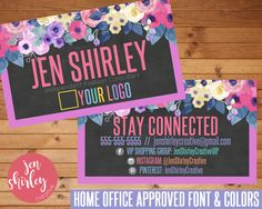 LuLaRoe Business Cards, Watercolor Chalkboard Flower Design, Customized, LuLaRoe Office Approved, Personalized File, Floral Business Card  This listing is for custom business cards. Fonts and colors are compliant and home office approved.  This listing is for a custom digital file. No product will be mailed to you. Each digital file is 3.75x2.25 at 300 DPI. Business card files can be upload to a website like VistaPrint for printing.  All digital files are non-refundable. If you have any…