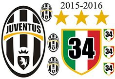 Sticker KIT, JUVENTUS Champions 2015, 2016 for External Internal auto Motorcycle measures offer 11pz STICKERS