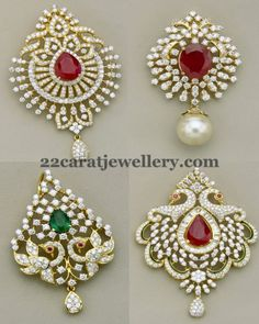 Jewellery Designs: Classic Peacock Diamond Pendants
