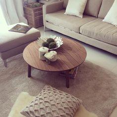 STOCKHOLM Coffee table Walnut veneer 93 cm