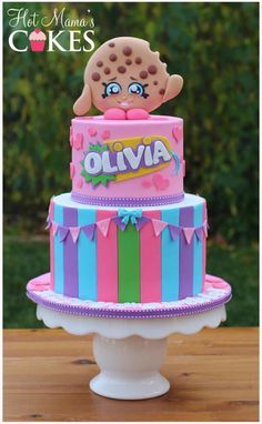 Ideas birthday cake kids girls shopkins for 2019 Bolo Shopkins, Fete Shopkins, Shopkins Birthday Cake, Novelty Birthday Cakes, Birthday Cake Girls, Shopkins Kooky Cookie Cake, Shopkins Cookies, 7th Birthday, Birthday Ideas