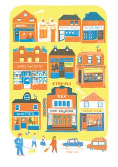 Shop Fronts - Louise Lockhart | Illustration | Design | The Printed Peanut