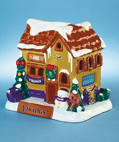 MINNESOTA VIKINGS NFL FOOTBALL COLLECTIBLE CHRISTMAS HOLIDAY HOUSE HOME DECOR #MinnesotaVikings