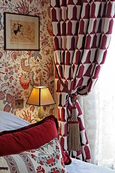Eclectic? What would you call this whimsical, thrown-together style? Pierre Frey design