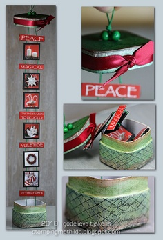 Christmas Inchies by stampingmathilda, via Flickr