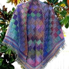 Autumn is a beautiful entrelac shawl with a lacy border - this shawl is a…