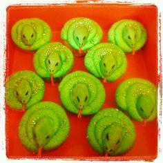 Snake cupcakes for davids birthday