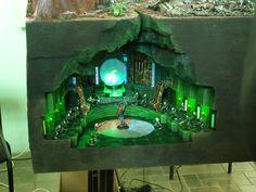 Necron diorama, 40k, miniature terrain, sci-fi