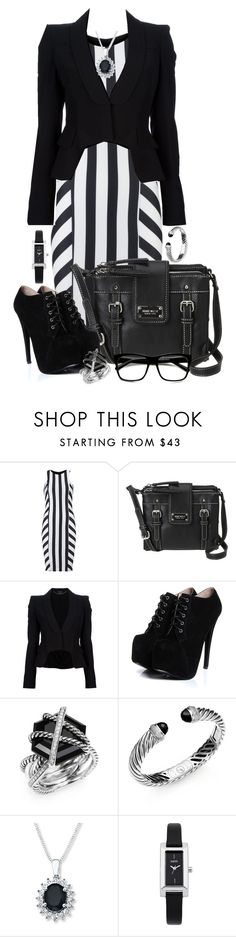 """Ruthless Monday"" by darksyngr ❤ liked on Polyvore featuring Lipstick Boutique, Nine West, Alexander McQueen, Boohoo, David Yurman, Oasis, Retrò, WorkWear and Work"