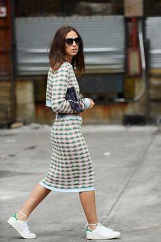 Erika Boldrin how to style stan smith