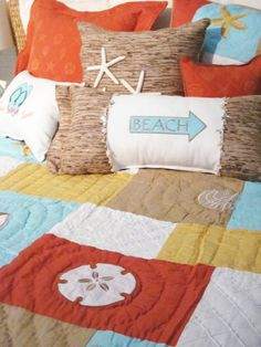 Beach cottage quilt -love the different take with this one