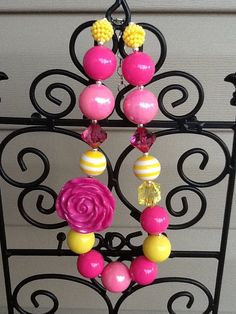 Children's Chunky Beaded Necklace by MySweetSprinklings on Etsy